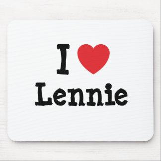 I love Lennie heart T-Shirt Mouse Pad