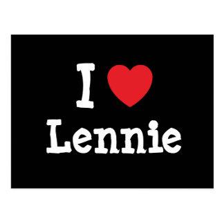 I love Lennie heart T-Shirt Postcard