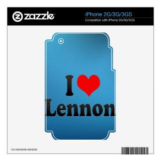 I love Lennon Skin For iPhone 3
