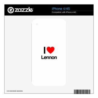 i love lennon skin for the iPhone 4