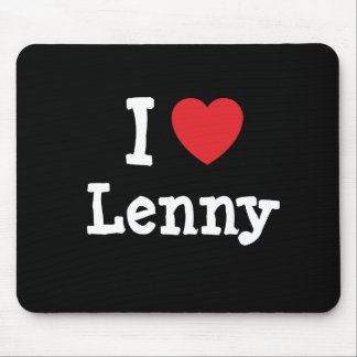I love Lenny heart custom personalized Mouse Pad