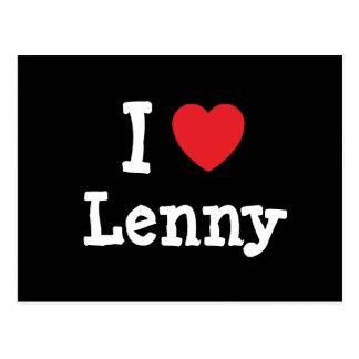 I love Lenny heart custom personalized Postcard