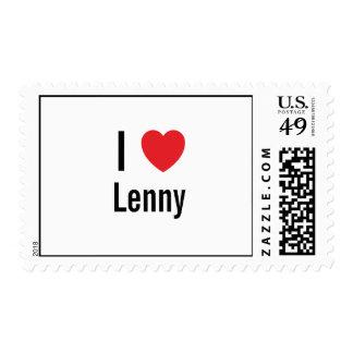 I love Lenny Postage Stamp