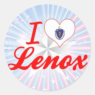 I Love Lenox, Massachusetts Classic Round Sticker