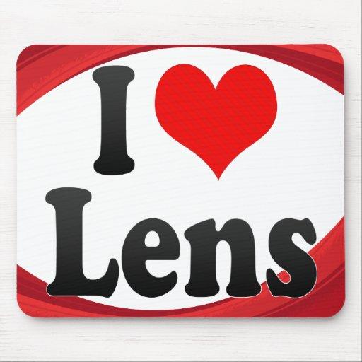 I Love Lens, France. J'Ai L'Amour Lens, France Mouse Pad