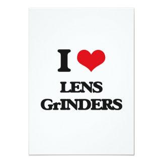 I love Lens Grinders 5x7 Paper Invitation Card