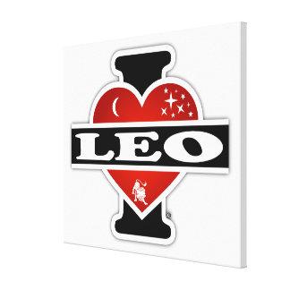 I Love Leo Canvas Print