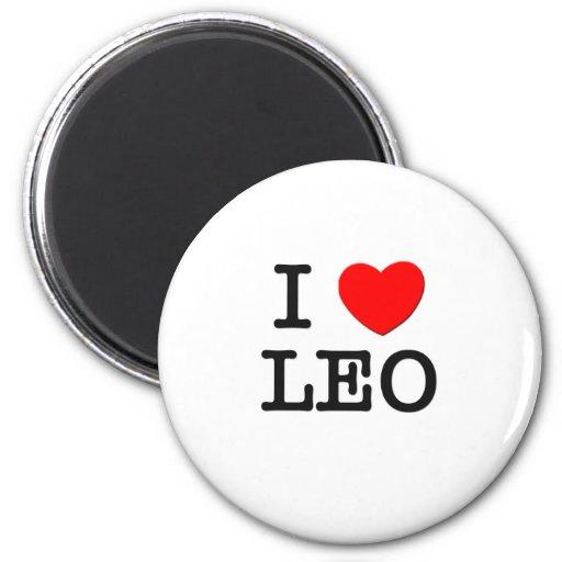 I Love Leo Magnets