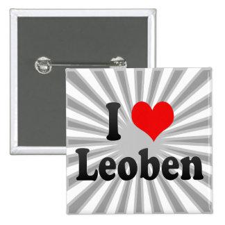 I Love Leoben, Austria Pins