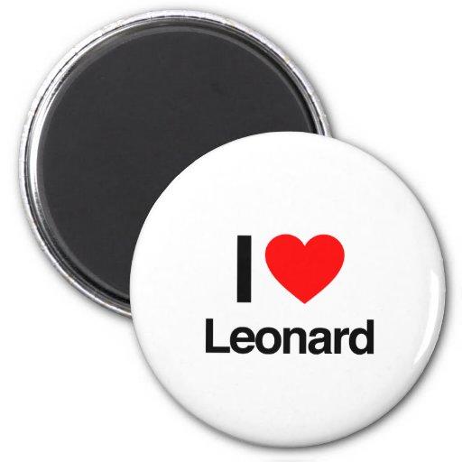i love leonard 2 inch round magnet