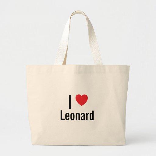 I love Leonard Canvas Bags