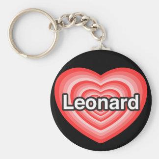 I love Leonard. I love you Leonard. Heart Keychain