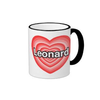 I love Leonard I love you Leonard Heart Coffee Mug