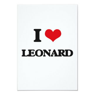 I Love Leonard 3.5x5 Paper Invitation Card
