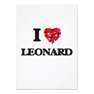 I Love Leonard 5x7 Paper Invitation Card