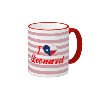 I Love Leonard Texas Coffee Mugs