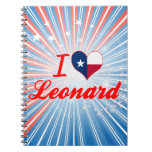 I Love Leonard, Texas Spiral Notebook