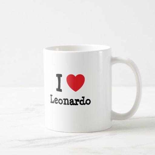 I love Leonardo heart custom personalized Mugs