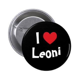 I Love Leoni Pinback Buttons