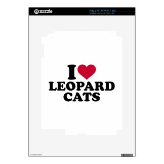 I love Leopard cats Skin For The iPad 2
