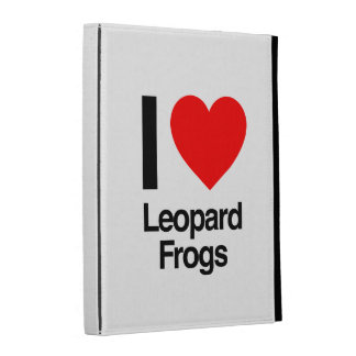i love leopard frogs iPad cases