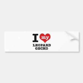 I love LEOPARD GECKO Bumper Sticker