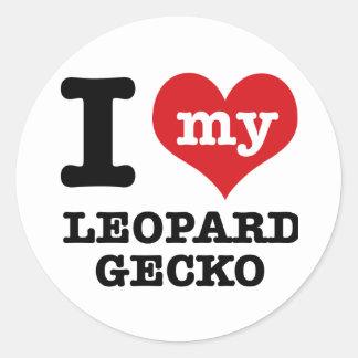 I love LEOPARD GECKO Classic Round Sticker