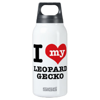 I love LEOPARD GECKO Thermos Bottle