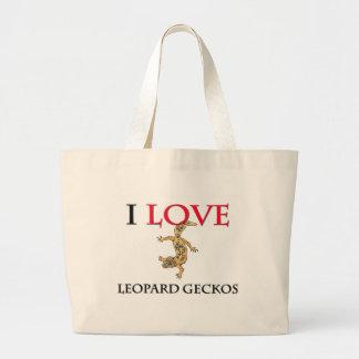 I Love Leopard Geckos Large Tote Bag