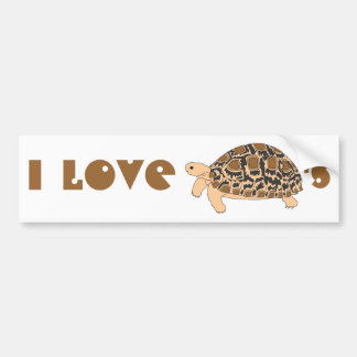 I Love Leopard Tortoises Bumper Sticker