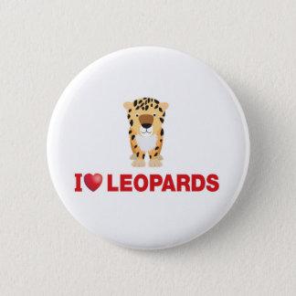 i love leopards button