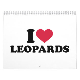 I love Leopards Calendar