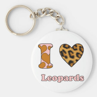 I love Leopards Key Chains