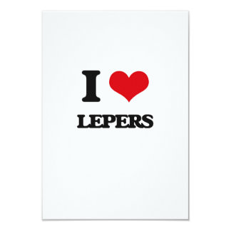 I Love Lepers Custom Invitation Card