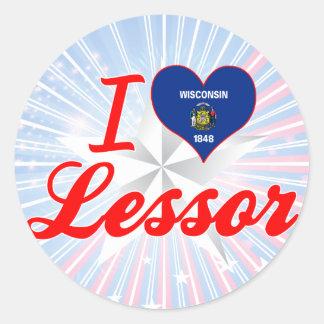 I Love Lessor, Wisconsin Classic Round Sticker