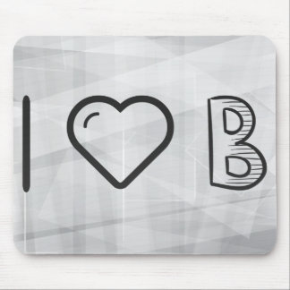 I Love Letter Bs Mouse Pad