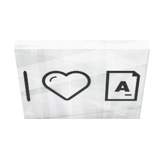 I Love Letters Canvas Print