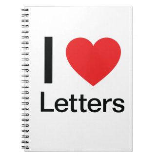I Love Letters Spiral Note Book