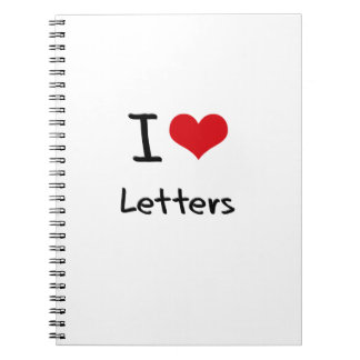 I love Letters Spiral Notebooks