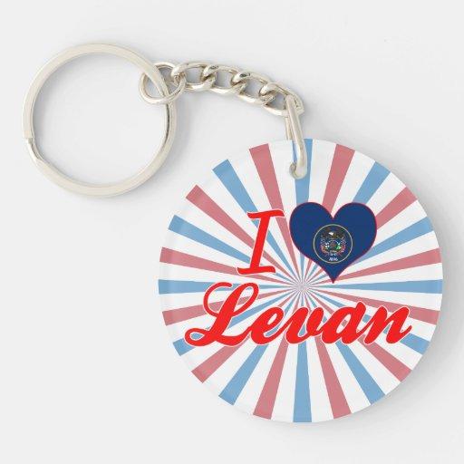 I Love Levan, Utah Acrylic Key Chain