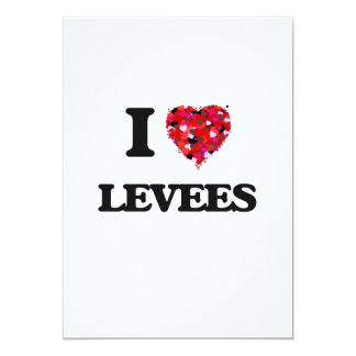 I Love Levees 5x7 Paper Invitation Card