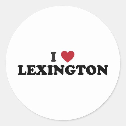 I Love Lexington Kentucky Classic Round Sticker