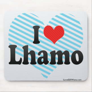 I Love Lhamo Mouse Pads