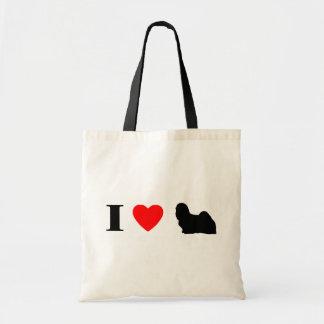 I Love Lhasa Apsos Bag