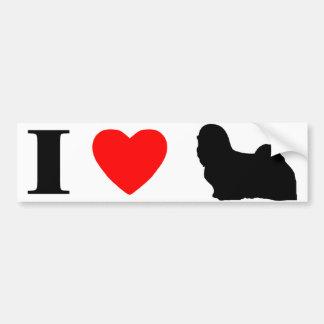 I Love Lhasa Apsos Bumper Sticker