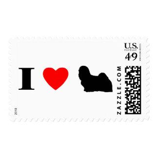 I Love Lhasa Apsos Stamps