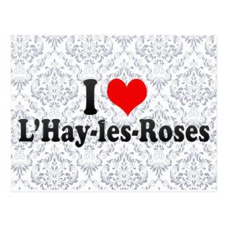 I Love L'Hay-les-Roses, France Postcard