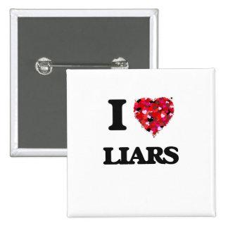 I Love Liars 2 Inch Square Button