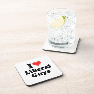 I LOVE LIBERAL GUYS.png Beverage Coaster