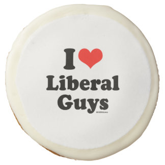 I LOVE LIBERAL GUYS SUGAR COOKIE